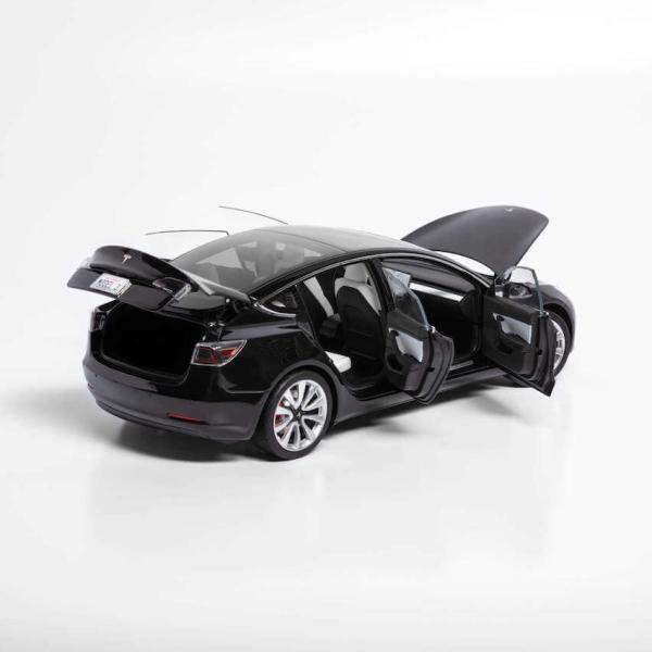 TESLA Diecast 1:18 Scale Model 3 テスラ純正品 ダイキャスト 1/18 モデル3 ブラック モデルカー ミニカー|ducatism|07