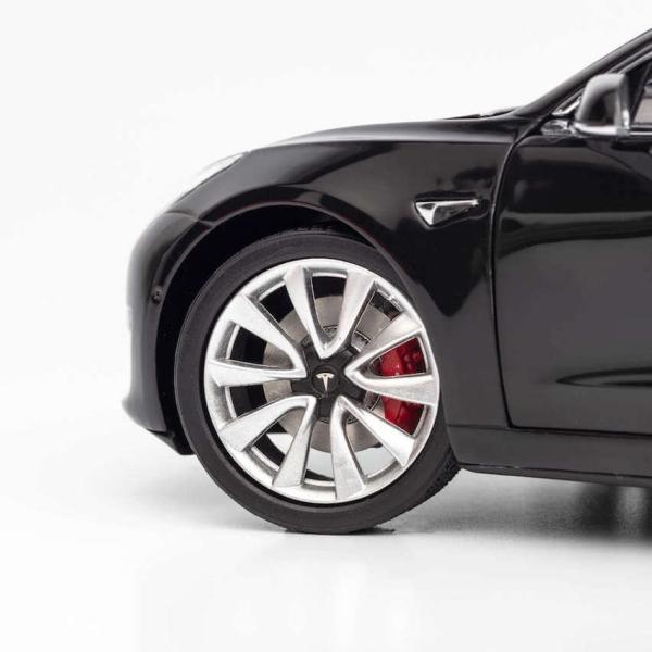 TESLA Diecast 1:18 Scale Model 3 テスラ純正品 ダイキャスト 1/18 モデル3 ブラック モデルカー ミニカー|ducatism|08