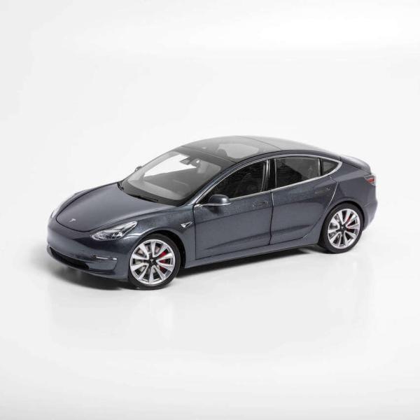 TESLA Diecast 1:18 Scale Model 3 テスラ純正品 ダイキャスト 1/18 モデル3 ミッドナイトシルバーメタリック モデルカー ミニカー|ducatism
