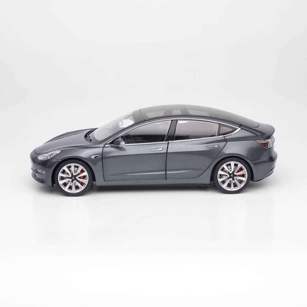TESLA Diecast 1:18 Scale Model 3 テスラ純正品 ダイキャスト 1/18 モデル3 ミッドナイトシルバーメタリック モデルカー ミニカー|ducatism|02