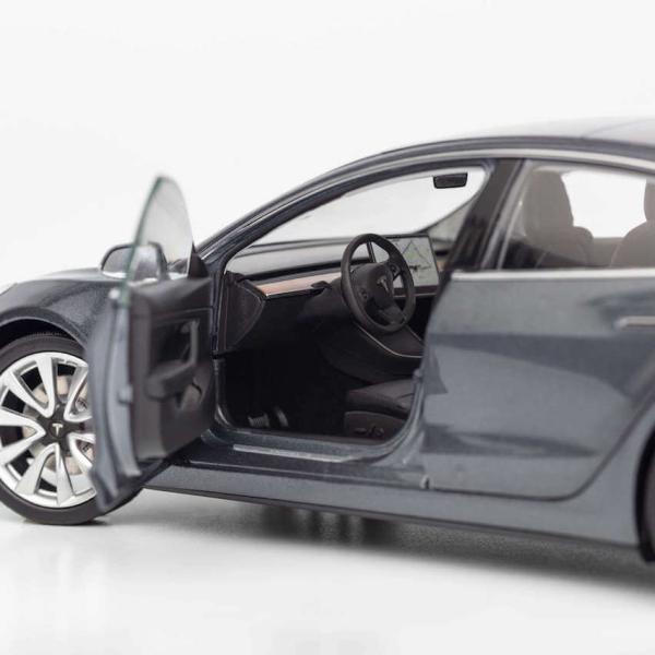 TESLA Diecast 1:18 Scale Model 3 テスラ純正品 ダイキャスト 1/18 モデル3 ミッドナイトシルバーメタリック モデルカー ミニカー|ducatism|03