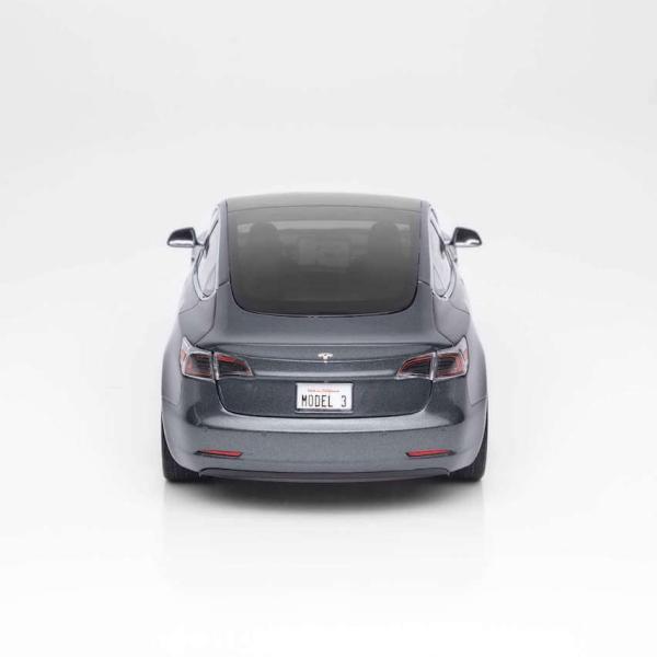TESLA Diecast 1:18 Scale Model 3 テスラ純正品 ダイキャスト 1/18 モデル3 ミッドナイトシルバーメタリック モデルカー ミニカー|ducatism|05