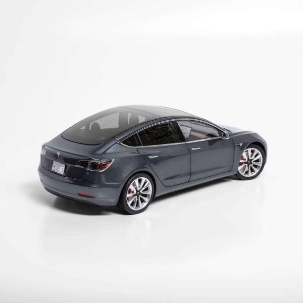 TESLA Diecast 1:18 Scale Model 3 テスラ純正品 ダイキャスト 1/18 モデル3 ミッドナイトシルバーメタリック モデルカー ミニカー|ducatism|06