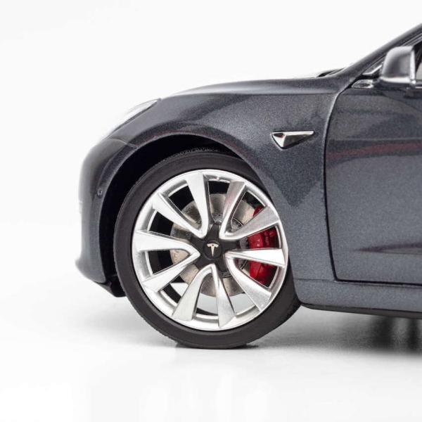 TESLA Diecast 1:18 Scale Model 3 テスラ純正品 ダイキャスト 1/18 モデル3 ミッドナイトシルバーメタリック モデルカー ミニカー|ducatism|08