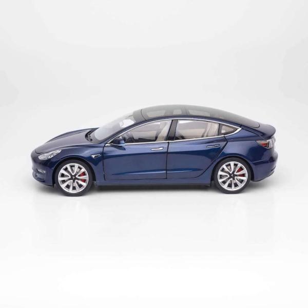 TESLA Diecast 1:18 Scale Model 3 テスラ純正品 ダイキャスト 1/18 モデル3 ディープブルー モデルカー ミニカー ducatism 02
