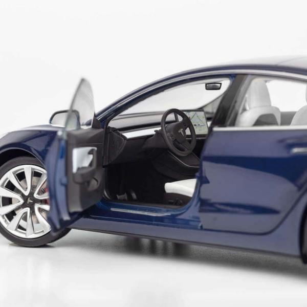 TESLA Diecast 1:18 Scale Model 3 テスラ純正品 ダイキャスト 1/18 モデル3 ディープブルー モデルカー ミニカー ducatism 03