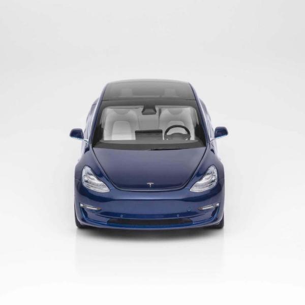 TESLA Diecast 1:18 Scale Model 3 テスラ純正品 ダイキャスト 1/18 モデル3 ディープブルー モデルカー ミニカー ducatism 04