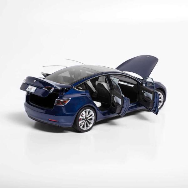 TESLA Diecast 1:18 Scale Model 3 テスラ純正品 ダイキャスト 1/18 モデル3 ディープブルー モデルカー ミニカー ducatism 07