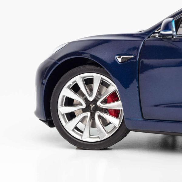 TESLA Diecast 1:18 Scale Model 3 テスラ純正品 ダイキャスト 1/18 モデル3 ディープブルー モデルカー ミニカー ducatism 08