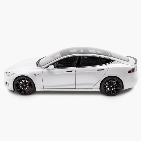 TESLA Diecast 1:18 Scale Model S P100D テスラ純正品 ダイキャスト 1/18 モデルS パールホワイトモデルカー ミニカー|ducatism|02