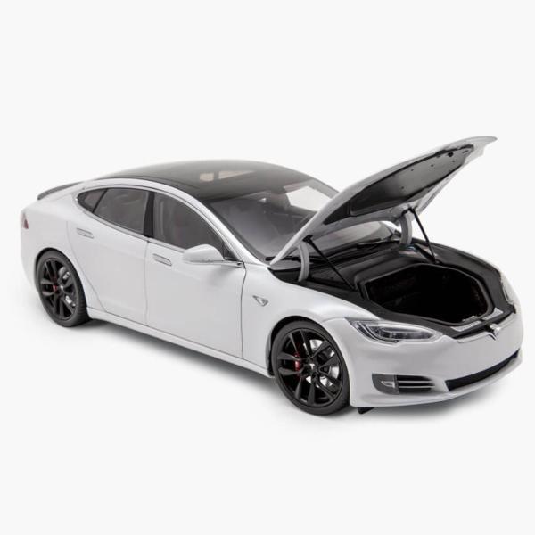 TESLA Diecast 1:18 Scale Model S P100D テスラ純正品 ダイキャスト 1/18 モデルS パールホワイトモデルカー ミニカー|ducatism|04