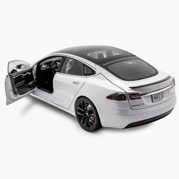 TESLA Diecast 1:18 Scale Model S P100D テスラ純正品 ダイキャスト 1/18 モデルS パールホワイトモデルカー ミニカー|ducatism|05