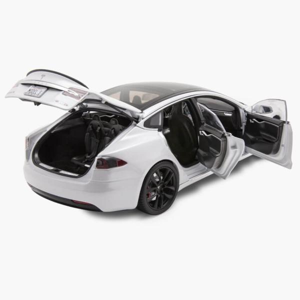 TESLA Diecast 1:18 Scale Model S P100D テスラ純正品 ダイキャスト 1/18 モデルS パールホワイトモデルカー ミニカー|ducatism|07