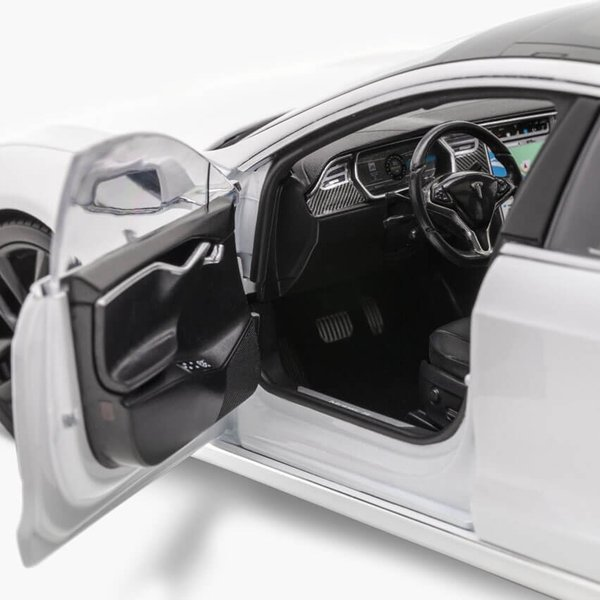 TESLA Diecast 1:18 Scale Model S P100D テスラ純正品 ダイキャスト 1/18 モデルS パールホワイトモデルカー ミニカー|ducatism|08