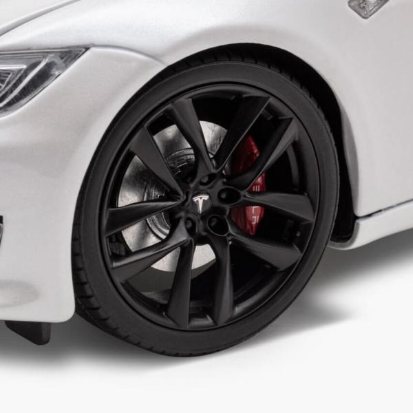 TESLA Diecast 1:18 Scale Model S P100D テスラ純正品 ダイキャスト 1/18 モデルS パールホワイトモデルカー ミニカー|ducatism|09