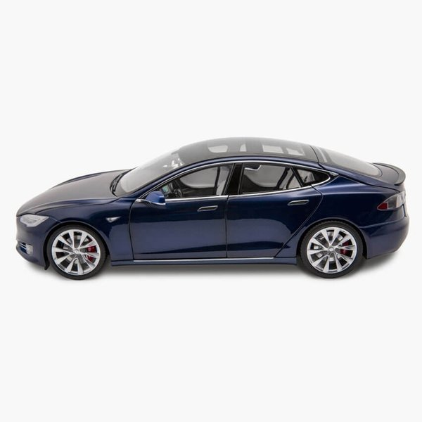 TESLA Diecast 1:18 Scale Model S P100D テスラ純正品 ダイキャスト 1/18 モデルS Deep Blue モデルカー ミニカー|ducatism|02