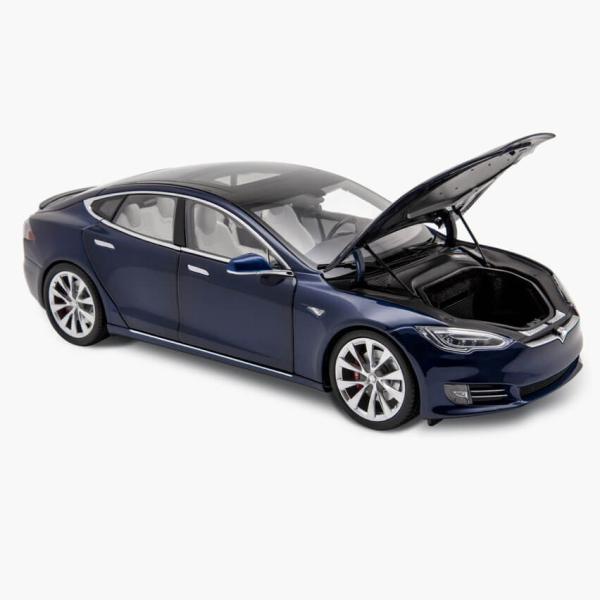 TESLA Diecast 1:18 Scale Model S P100D テスラ純正品 ダイキャスト 1/18 モデルS Deep Blue モデルカー ミニカー|ducatism|04