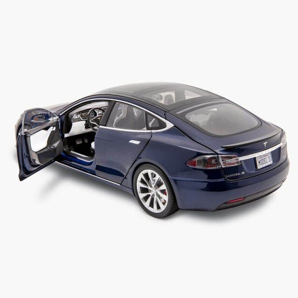 TESLA Diecast 1:18 Scale Model S P100D テスラ純正品 ダイキャスト 1/18 モデルS Deep Blue モデルカー ミニカー|ducatism|05
