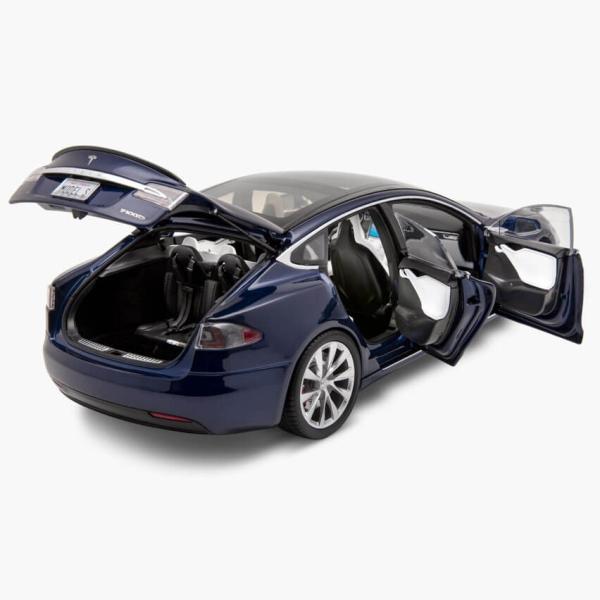 TESLA Diecast 1:18 Scale Model S P100D テスラ純正品 ダイキャスト 1/18 モデルS Deep Blue モデルカー ミニカー|ducatism|07