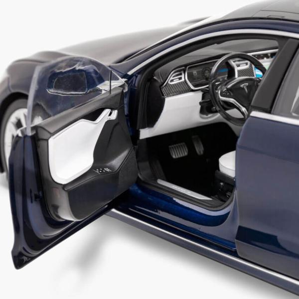 TESLA Diecast 1:18 Scale Model S P100D テスラ純正品 ダイキャスト 1/18 モデルS Deep Blue モデルカー ミニカー|ducatism|08
