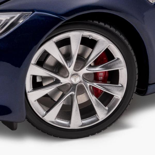 TESLA Diecast 1:18 Scale Model S P100D テスラ純正品 ダイキャスト 1/18 モデルS Deep Blue モデルカー ミニカー|ducatism|09