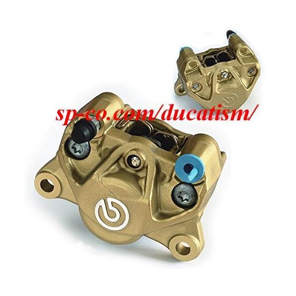 国内正規品 brembo 2POT 84mmピッチ 34φ キャリパー 新カニ  bマーク/ゴールド  パッド付き 20.B852.10 ブレンボジャパン正規品|ducatism