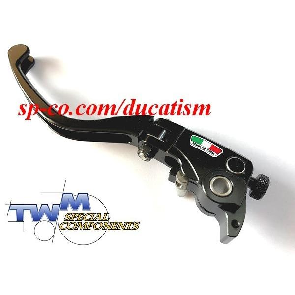 TWM DUCATI 1199/1098/999/848/749/Diavel/Monster1100.. brembo セミラジアルマスター用可倒レバー -RACING- レーシング ブラック|ducatism