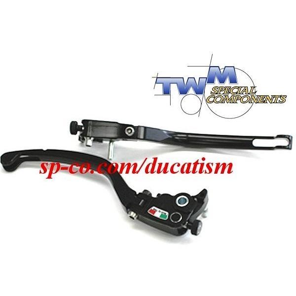 TWM DUCATI 1199/1098/999/848/749/Diavel/Monster1100.. brembo セミラジアルマスター用可倒レバー -RACING- レーシング ブラック|ducatism|02