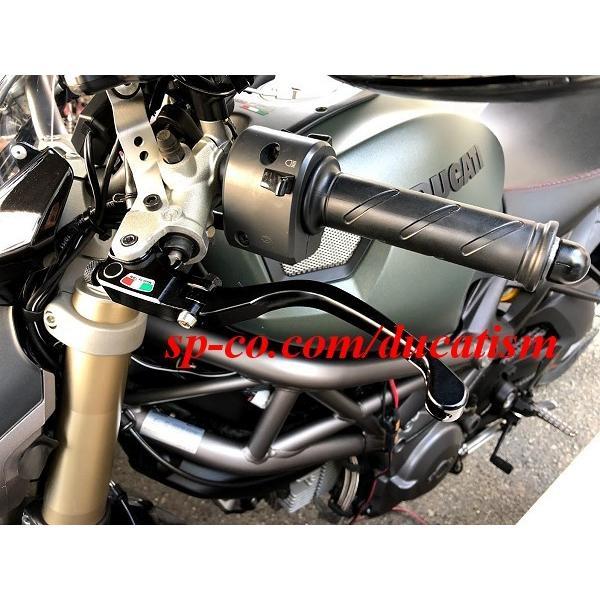 TWM DUCATI 1199/1098/999/848/749/Diavel/Monster1100.. brembo セミラジアルマスター用可倒レバー -RACING- レーシング ブラック|ducatism|04