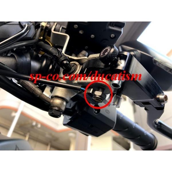 TWM DUCATI 1199/1098/999/848/749/Diavel/Monster1100.. brembo セミラジアルマスター用可倒レバー -RACING- レーシング ブラック|ducatism|07