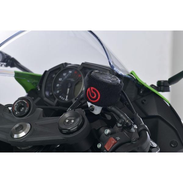 ブレンボ 純正 オイルタンクカバー 大 brembo ジャパン正規品 S50 リザーバータンク カバー 80x50mm ブラック/赤ロゴ 1個 99.8637.56 ducatism 06