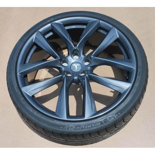 テスラ モデルS  純正 21インチ アラクニッド ホイール グレー4本set Arachnid Wheel 8.5Jx21/9Jx21 1台分set Tesla ModelS 鍛造|ducatism