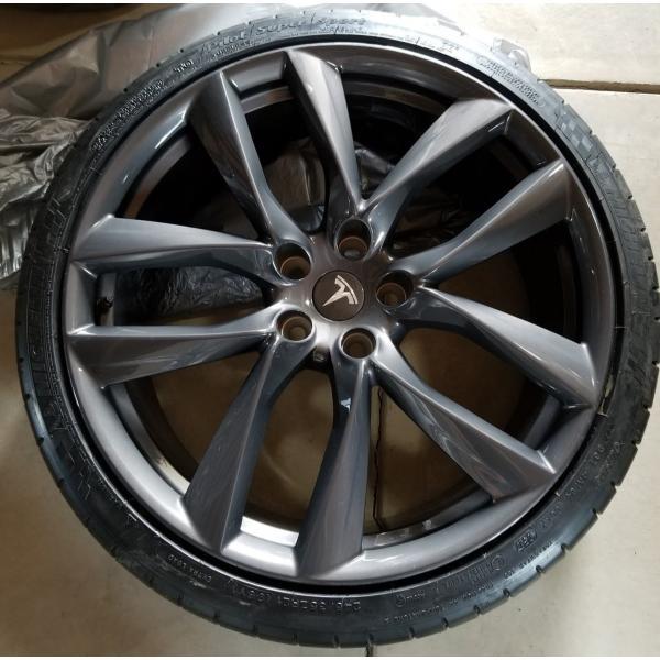 テスラ モデルS  純正 21インチ アラクニッド ホイール グレー4本set Arachnid Wheel 8.5Jx21/9Jx21 1台分set Tesla ModelS 鍛造|ducatism|06