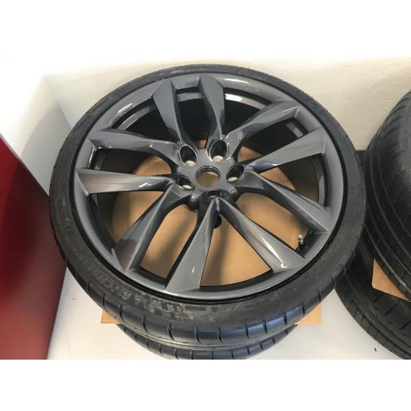 テスラ モデルS  純正 21インチ アラクニッド ホイール グレー4本set Arachnid Wheel 8.5Jx21/9Jx21 1台分set Tesla ModelS 鍛造|ducatism|07