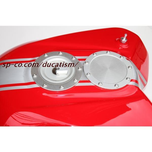 ビーターアルミタンク 塗装1198SPヘアライン仕上げ込み (モニター特価!!)純正デカール代+デカール貼付+ハードクリア塗装代 (タンクと同時購入に限ります)|ducatism|03