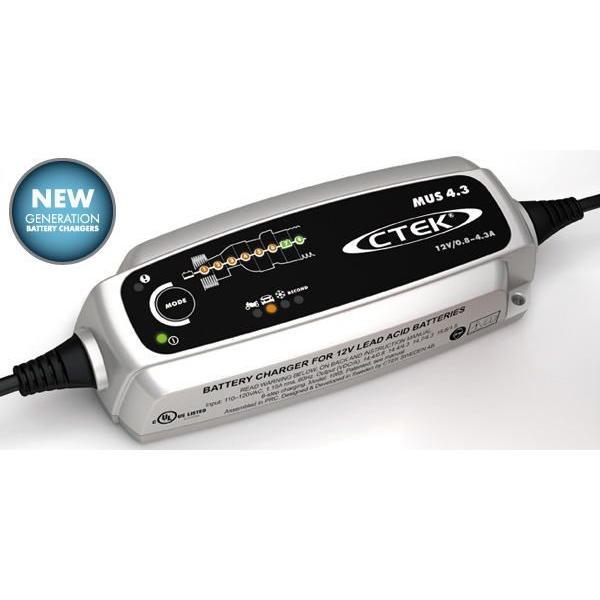 セール品 CTEK MUS4.3 12V シーテック プロ仕様 次世代 充電器 バッテリーチャージャー&メンテナー 日本語説明書付属 1年保証付き 送料無料|ducatism