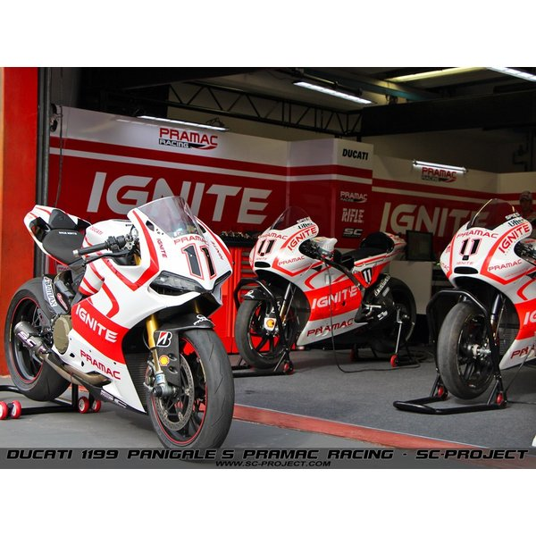 """SC-PROJECT DUCATI 1199/899 Panigale/S/R コレクターパイプ & CR-T カーボンサイレンサー  (Carbon Silencer)""""RACING""""