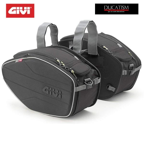 GIVI EA101B サイドバッグ EASY 30Lx2 ソフト セミハード バッグ DUCATI Panigale V4 1299 1199 Monster 1200 1100 evo 796 ducatism