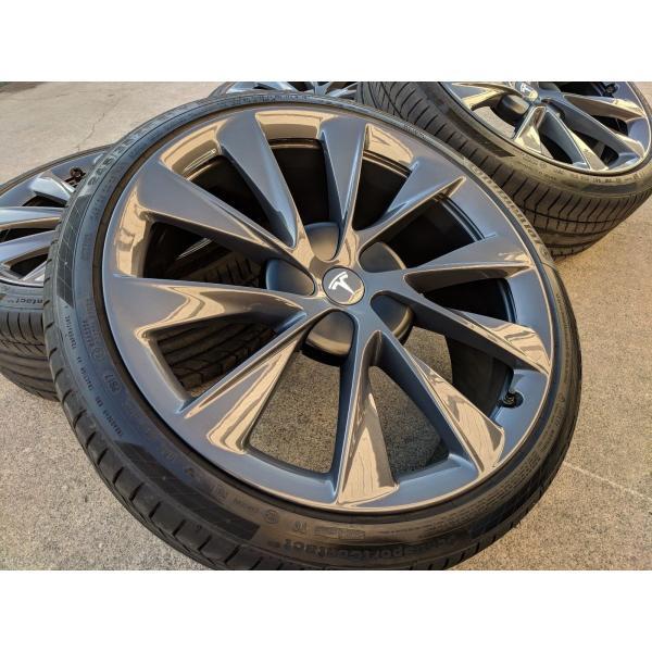テスラ モデルS  純正 21インチ Newツインタービン ホイール グレー4本set TwinTurbine Wheel 8.5Jx21/9Jx21 1台分set Tesla ModelS ducatism 02