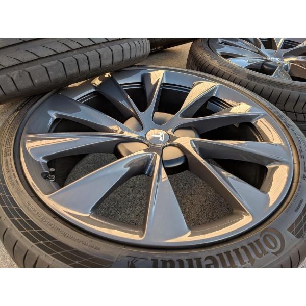 テスラ モデルS  純正 21インチ Newツインタービン ホイール グレー4本set TwinTurbine Wheel 8.5Jx21/9Jx21 1台分set Tesla ModelS ducatism 03