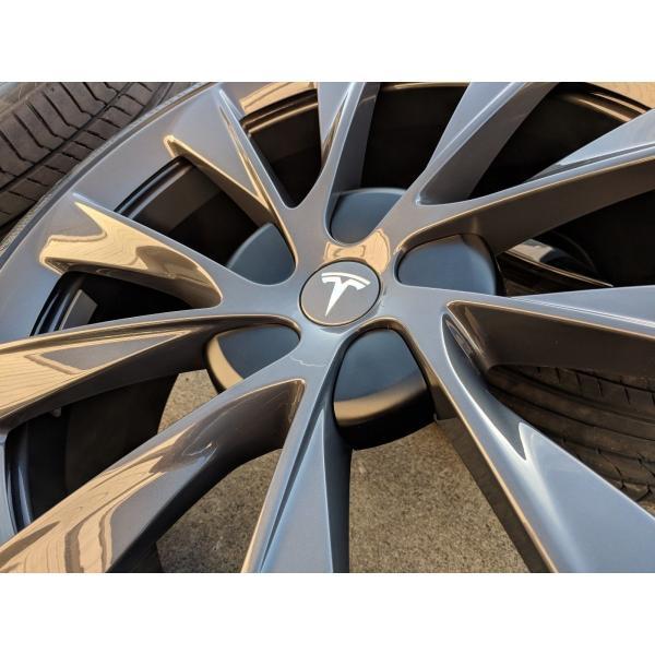 テスラ モデルS  純正 21インチ Newツインタービン ホイール グレー4本set TwinTurbine Wheel 8.5Jx21/9Jx21 1台分set Tesla ModelS ducatism 04