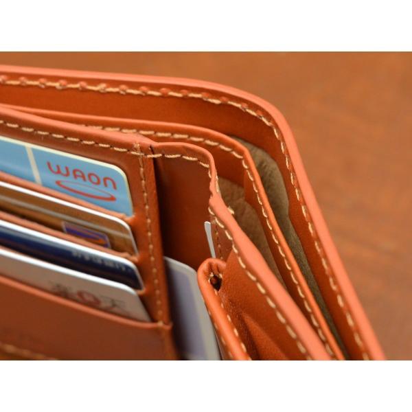 二つ折り財布 レディース 本革 メンズ 牛革スムース イタリア ブランド おしゃれ レザー DUCT(ダクト) FV-182|duct-store|04