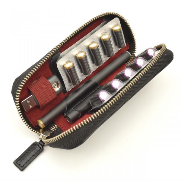 プルームテックケース Ploom TECH コンパクト マウスピース おしゃれ 革 2本 収納 本革製 DUCT(ダクト) NL-820|duct-store|04