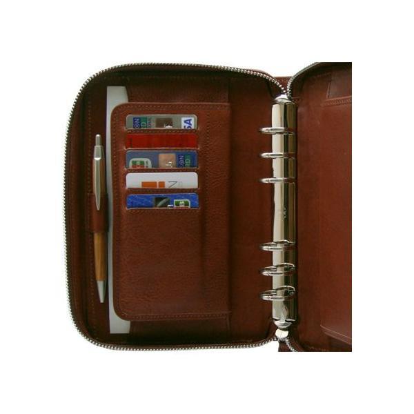 システム手帳 バイブルサイズ6穴 ラウンドファスナー リフィル ブランド イタリア メンズ 牛革シュリンク 送料無料 おしゃれ レザー 整理 DUCT(ダクト) SVV-560|duct-store|03