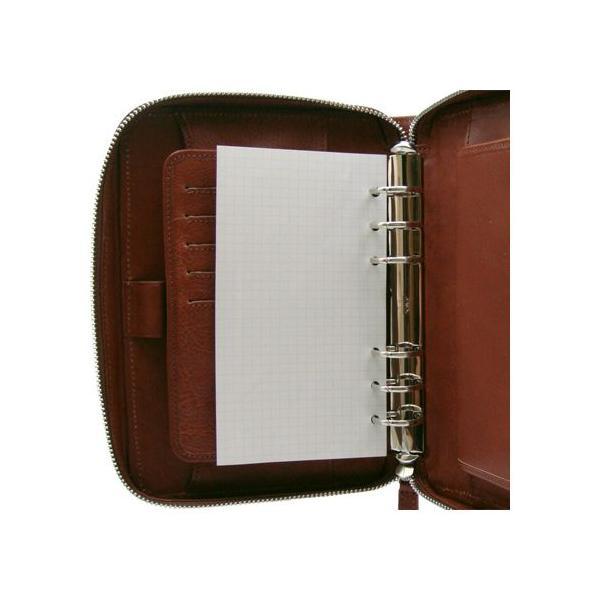 システム手帳 バイブルサイズ6穴 ラウンドファスナー リフィル ブランド イタリア メンズ 牛革シュリンク 送料無料 おしゃれ レザー 整理 DUCT(ダクト) SVV-560|duct-store|05