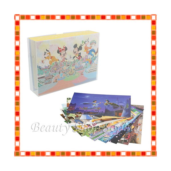 ミッキー&フレンズ ポストカード(10枚セット) ポストカードホルダー付き プリンセス ディズニー グッズ お土産(東京ディズニーリゾート限定)