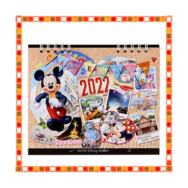 ミッキー&フレンズ 卓上カレンダー 2022年 月曜始まり ディズニー グッズ お土産(東京ディズニーリゾート限定)