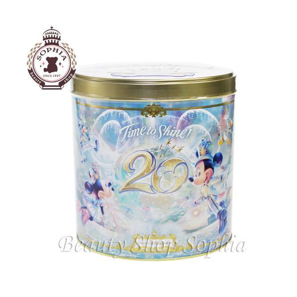 ミッキー&フレンズ 缶入りチョコレートクランチ 20周年 アニバーサリー タイム・トゥ・シャイン! お菓子 ディズニー グッズ お土産(東京ディズニーシー限定)