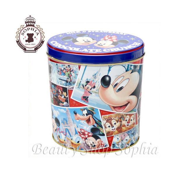ミッキー&フレンズ 缶入りチョコレートクランチ(ミルク&ストロベリー) お菓子 ディズニー グッズ お土産(東京ディズニーリゾート限定)