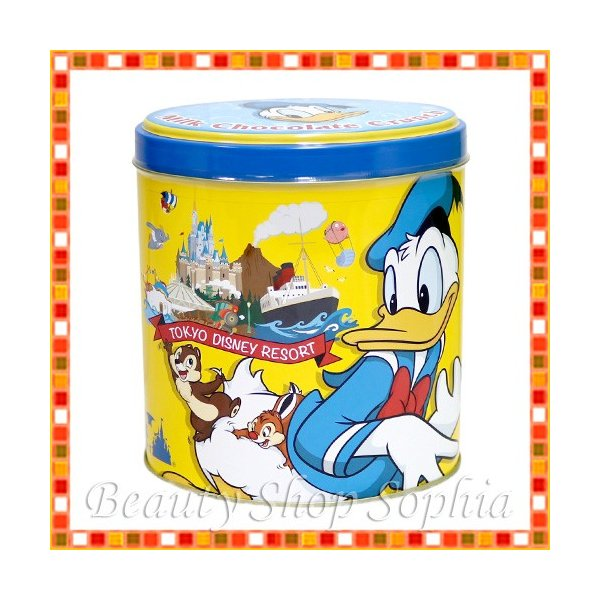 ドナルドダック 缶入りチョコレートクランチ お菓子 ディズニー グッズ お土産 (東京ディズニーリゾート限定)